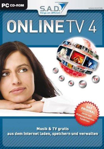 Online TV 4, CD-ROM in Slim-BoxMusik & TV gratis aus dem Internet laden, speichern und verwalten. Für Windows 98/ME/NT4 (SP6)/2000/2000 Server/XP Home oder Pro/Server 2003/Vista -