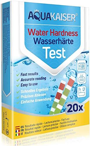Wasserhärte Teststreifen - 20 Stück - einzeln versiegelt - Wasserhärte Test für Trinkwasser, Teich, Pool, Aquarium