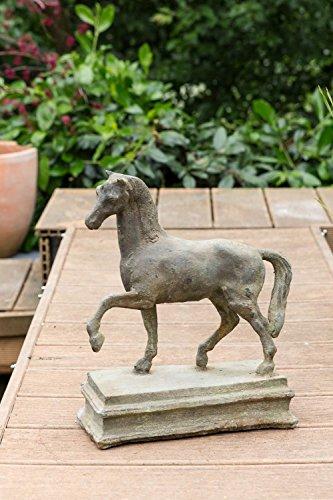 Skulptur Pferd auf einer Plinthe Figur Eisen 10kg Garten sculpture iron horse