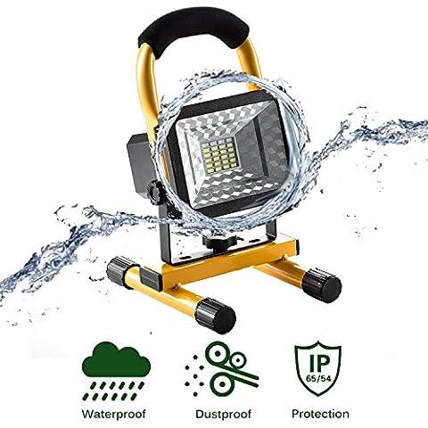 lanfu Projecteur à LED Blanc 15W/couloir éclairage/Camping Lampe de travail rechargeable/Phare/Spot Projecteur LED Phare de travail pratique sans fil portable