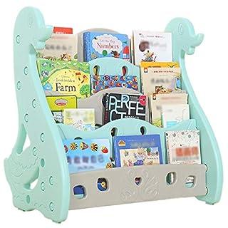 Regale Kinderbücherregal Kreative Schlafzimmer Zeitungsständer Kindergarten Students Office Lehrmaterialien Malerei Ausstellungsstand (Color : Blue, Size : 86 * 80 * 38 cm)