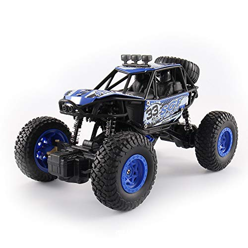 ACOC RC Cars, Ferngesteuertes Auto, Rabing Off-Road-Rock-Fahrzeug-Raupen-LKW 2,4 Ghz 4WD High Speed Doppelmotor 1:20 Funkfernsteuerung Rennwagen Elektro Fast Race Buggy Hobby Auto,Blue