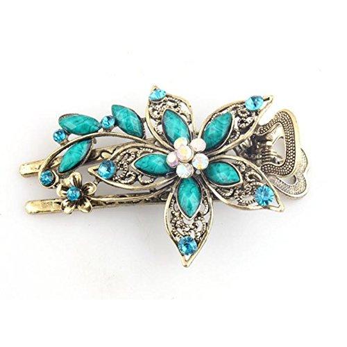Sarong Bekleidung Pareos (Zolimx Haar Klammern Vintage Schmuck Kristall Haarnadeln für Haar Clip Tools (Blau))