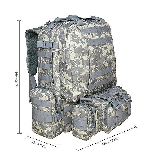 Imagen de  táctica militar versión actualizada, topqsc  de moda 55l múltiples colores para senderismo montañismo marcha macuto al aire libre bolsa de viaje de calidad alta acu  alternativa