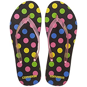 Converse Women's Black/Pink Flip-Flops and House Slippers -7 UK/India (40 EU)