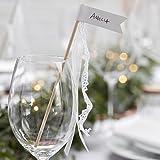 Ginger Ray Glas Dekoration/Tischkarte Reinigungsstäbe für Hochzeiten X 10 Pack ? Schöne Botanics