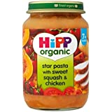 Hipp Pâtes Étoiles Organique Avec Douce De Squash & Poulet 7 + Mois 190G - Lot De 2