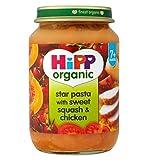 Hipp Bio-Sterne-Nudeln Mit Süß Squash & Hühner 7+ Monate 190G - Packung mit 2