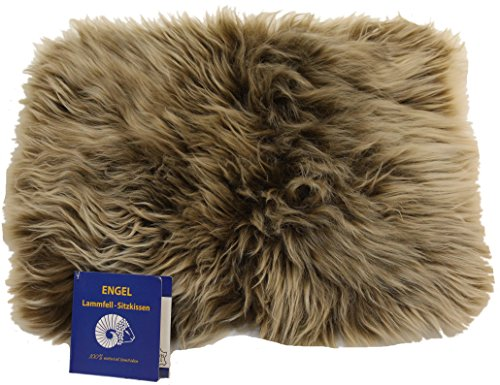 Engel Naturfelle Sitzauflage DIANA-30 aus Lammfell hochwollig rechteckig 30x40cm, Cappuccino