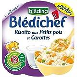 Blédina blédichef risotto aux petits pois et carottes 2x230g dès 12 mois - ( Prix Unitaire ) - Envoi Rapide Et...