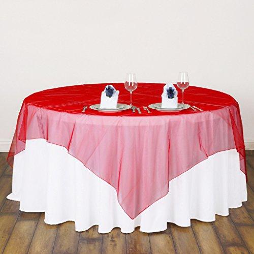 BITFLY 5Pcs 180cm x 180cm Mantel cuadrado Tela de Organza Cubierta de...