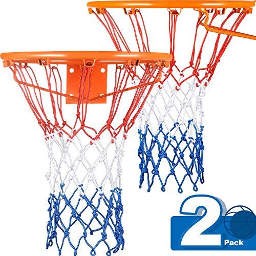 Syhood Rete di Ricambio per canestro da Basket per Quasi Tutte Le Condizioni atmosferiche Adatta per canestro da Basket Standard da Interno o Esterno