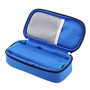Insulinkasten, 3 Farben tragbare Diabetiker-Kühlertasche, wasserdichte Diabetiker-Medikationskühler für das Reisen, Eisbeutel nicht einschließen