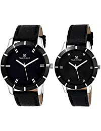 Timewear Analog Black Dial Unisex Couple Watch - 905Bdtcouple