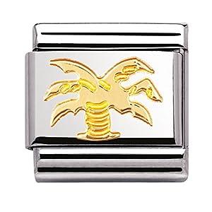 Nomination Composable Classic NATURE Edelstahl und 18K-Gold (Palme) 030111