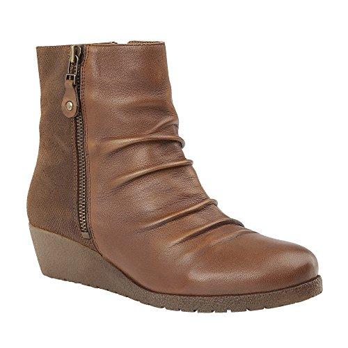 Lotus Sonora Womens Wedge Heel Ankle Boots 7 Tan/Print