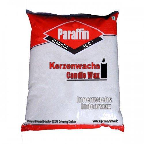 2 kg reines Paraffin 100% Kerzenwachs geruchlos Weiß Schmelzpunkt ca 55 C° als Granulat Markenqualität aus Deutschland -