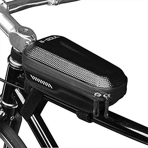 Lixada Fahrradrahmen-Tasche, Fahrrad- und Lenkertasche, Dreiecks-Tasche, Fahrrad- und Fahrradtasche, mit reflektierenden Streifen (optional), Bike Frame Bag -