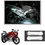 #1: Vheelocityin 10cm Neon Bike Light White - 2pc For Yamaha Yzf R15 Ver 2-0