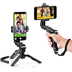 zeadio ergonomica Girevole Smartphone palmare Grip stabilizzatore treppiede Selfie Stick Maniglia Steadycam Kits, Fits iPhone Samsung Huawei Sony LG Nexus Nokia e Tutti i telefoni