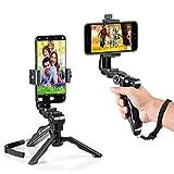zeadio ergonómico Giratorio Smartphone Handheld Estabilizador Trípode Selfie Stick–Mango Kits, Fits iPhone Samsung Huawei Sony LG Nexus Nokia y Todos los teléfonos