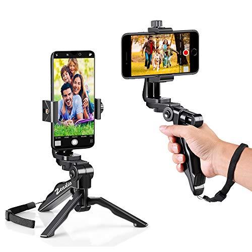 zeadio Ergonomischer, drehbarer Smartphone PDA Grip Stabilisator Stativ Selfie Stick Griff Steadycam Kits, passt iPhone Samsung Huawei Sony LG Nexus Nokia und alle Handys Pda-smartphone-standard
