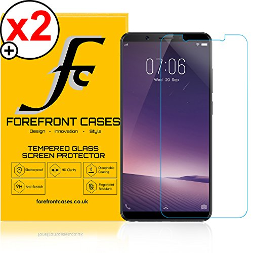 Forefront Cases® Vivo V7+ / V7 Plus [HIGH DEFINITION HD CLARITY] Tempered Glass 9H Hardness Screen Protector Guard Cover Film [ULTRA THIN only 0.3mm] - PACK OF 2
