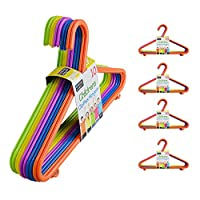 50 or 100 Kids Hangers Clothes Coat Multi Coloured Children Plastic Child Baby (50 Hangers)