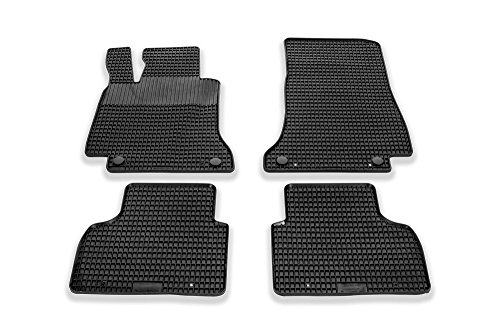 Set di tappetini in gomma compatibile per CITROEN c3 2016 Tappetino Nero 4tlg