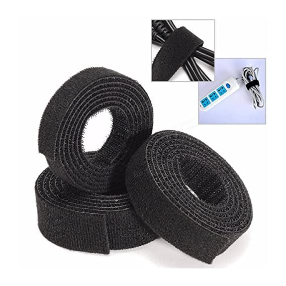 Aeoss Roll Reusable Cable Straps Cable Ties Hook & Loop Nylon Fastening Tape Wire Organizer for Cords Cable Management Set of 10