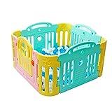 8-panel Baby Playpen Para Girl Boy Plástico Versátil Multicolor Niños Activity Center Safety Play...