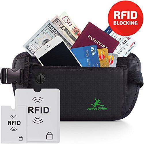Cinturón de viaje para dinero – Riñonera Running Interior Discreta – Bolsa De Viaje Oculta con bloqueo de RFID – Cartera Cinturón para Hombres y Mujeres – Ideal para viajes