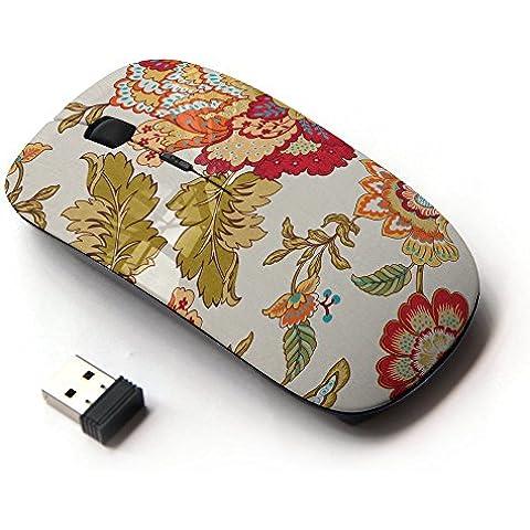 KawaiiMouse [ Mouse Senza Fili Ottico 2.4G ] Floral Vintage