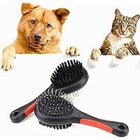 Chytaii Peine de Pelo Peine de Masaje Cepillo Mascota Peine para Perros/Gatos Mascotas Acabado de Pelo de Mascota Peine de Alambre de Acero Peine de Doble Cara 1Pieza
