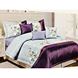 High Quality Luxury Double bed Bed Sheet, 100% Pure cotton Fashion AC Comforter with Matching Double bed Bedsheets 250*275 cms king size with 2 pillow covers- Trend : ALL SEASON