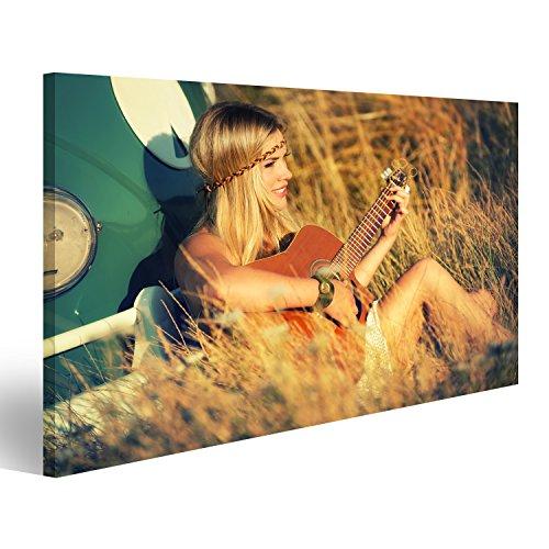 Cuadro Cuadros Impresión sobre lienzo - Formato Grande - Cuadros modernos Chica hippie