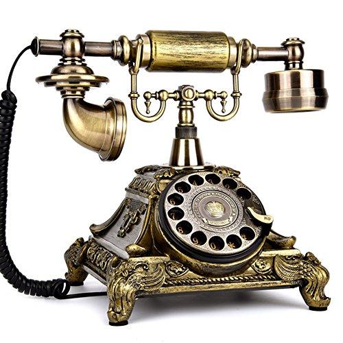 Europäische Rotary Wireless Antikes telefon,Retro festnetztelefon Mode Kreativ Rotary Vintage schnurloses telefon Für home dekoration speicherwert-B 23x25cm(9x10inch)