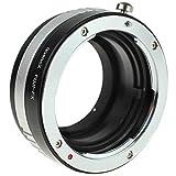 Quenox Objektiv-Adapter für Fujica-X-Objektiv an Fuji-X-Mount-Kamera - z.B. für Fujifilm Finepix X-T20, X-T10, X-T2, X-T1, X-E2S, X-E2, X-E1, X-A10, X-A3, X-A2, X-A1, X-M1, X-Pro2, X-Pro1