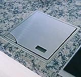 Báscula de cocina Acero inoxidable hasta 5kg-Báscula empotrable de 21x 21cm...
