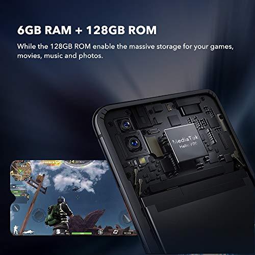 "UMIDIGI S3 PRO, Android 9 Pie Smartphone da 6.3"" FHD+ 128GB ROM 6GB RAM Cellulare, Helio P70 AI, Batteria da 5150mAh, Fotocamere 48+12+20MP, Dual SIM 4G VoLTE, Ricarica Rapida da 18W, NFC,Ceramic Nero"