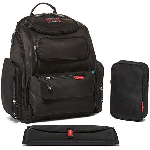 Bag Nation - Mochila para pañales con correas para cochecito, cambiador y...