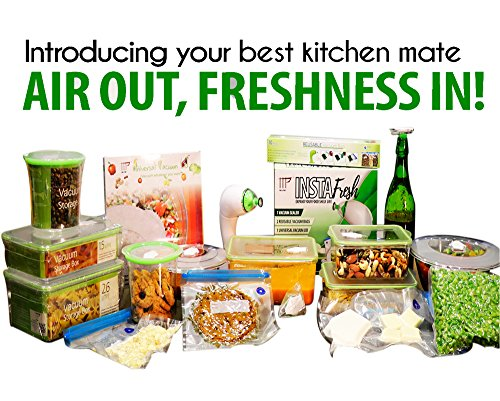 MAC & PRATT Instafresh Vacuum Sealer Set to Keep Food Fresh (Full Set, Multicolour)