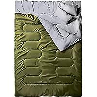 Ohuhu Schlafsack für 2 Personen Groß Doppelte Schlafsack 218 x 150cm Erwachsene Winter Schlafsack