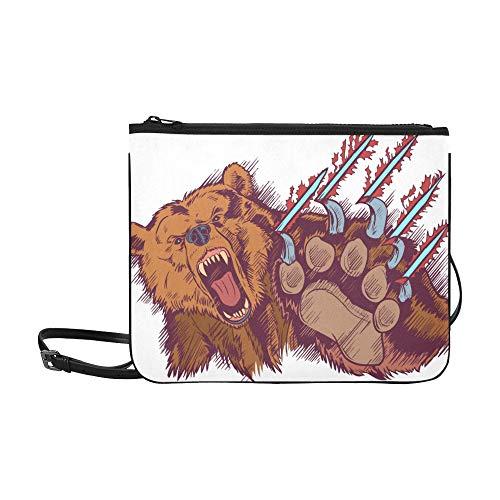 Grizzly Bären Maskottchen - WOCNEMP Niedliche braune wilde Bär Aquarell