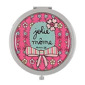 Miroir de poche- Jolie môme - rose-DLP-Derrière la Porte