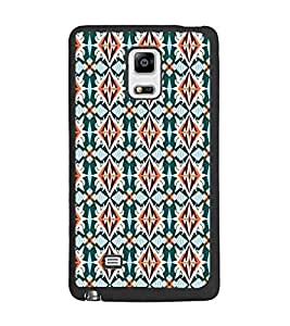 PrintDhaba Pattern D-5452 Back Case Cover for SAMSUNG GALAXY NOTE 4 (Multi-Coloured)