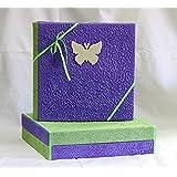 Álbum de fotos de 42x 35con estuche caja mariposa de madera regalo nacimiento bautizo Comunión cumpleaños