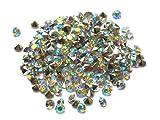 Amaraperlen Acryl Stasssteine Chatons 18 Farben zur Auswahl, 3x2 mm, 3 g, ca. 360 Stück (Klar AB)