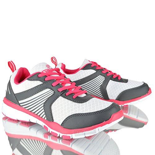 Spalding , Damen Sneaker Weiß weiß/rosa