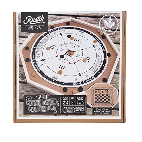 Crokinole 2-in-1 Wooden Game by Bojeux